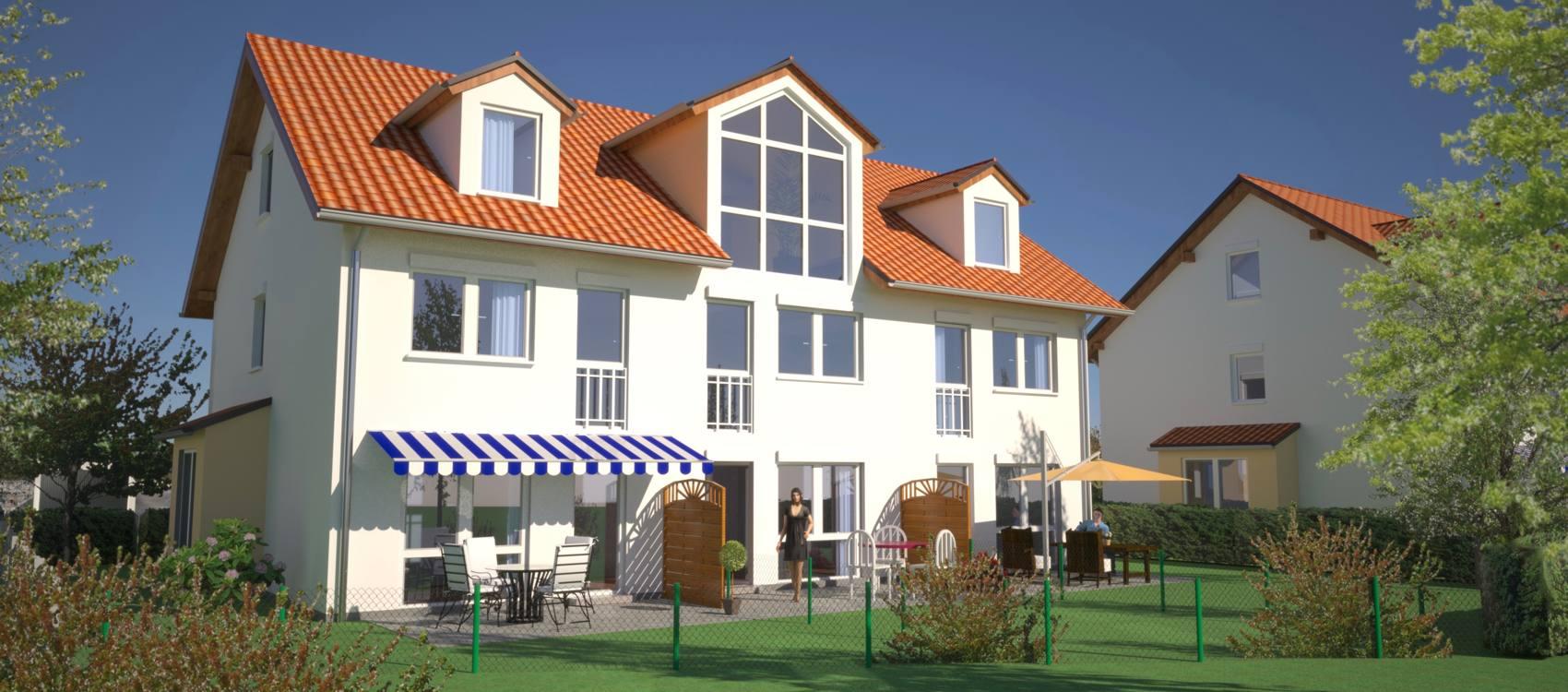 <span>Alle Häuser verkauft:</span><br />Moderne Energiesparhäuser in Pliening