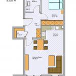 Grundriss Wohnung 3 OG