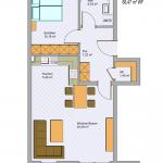 Grundriss Wohnung 8 EG